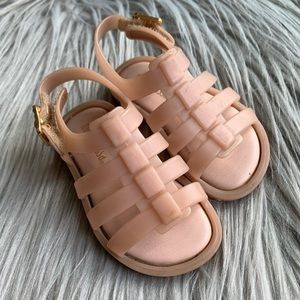 Mini Melissa Toddler Girl Flox Sandals Light Pink